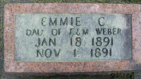 WEBER, EMMIE C - Pierce County, Nebraska | EMMIE C WEBER - Nebraska Gravestone Photos