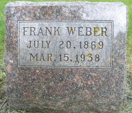 WEBER, FRANK - Pierce County, Nebraska | FRANK WEBER - Nebraska Gravestone Photos