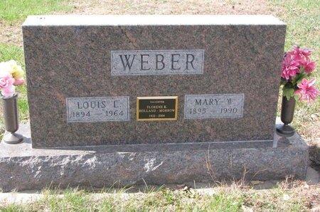 WEBER, LOUIS L. - Pierce County, Nebraska   LOUIS L. WEBER - Nebraska Gravestone Photos