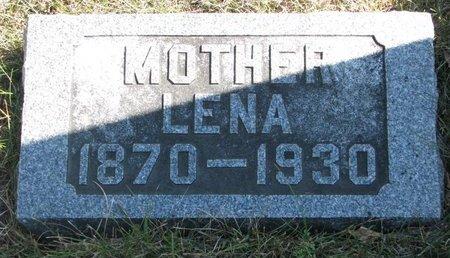 WEBER, LENA - Pierce County, Nebraska | LENA WEBER - Nebraska Gravestone Photos