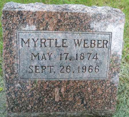 WEBER, MYRTLE - Pierce County, Nebraska | MYRTLE WEBER - Nebraska Gravestone Photos