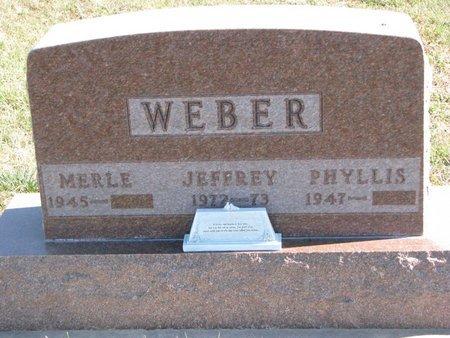 WEBER, MERLE - Pierce County, Nebraska | MERLE WEBER - Nebraska Gravestone Photos