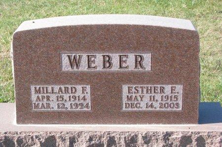 WEBER, ESTHER ELSIE - Pierce County, Nebraska | ESTHER ELSIE WEBER - Nebraska Gravestone Photos