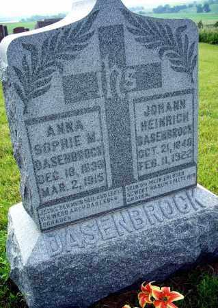 DASENBROCK, JOHANN HEINRICH - Platte County, Nebraska | JOHANN HEINRICH DASENBROCK - Nebraska Gravestone Photos
