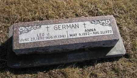 GERMAN, ANNA - Platte County, Nebraska | ANNA GERMAN - Nebraska Gravestone Photos