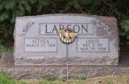 LARSON, ALTHEA - Platte County, Nebraska | ALTHEA LARSON - Nebraska Gravestone Photos