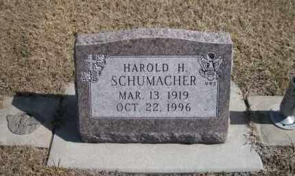 SCHUMACHER, HAROLD H. - Platte County, Nebraska   HAROLD H. SCHUMACHER - Nebraska Gravestone Photos