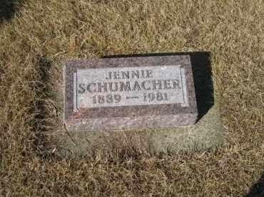 SCHUMACHER, JENNIE - Platte County, Nebraska | JENNIE SCHUMACHER - Nebraska Gravestone Photos