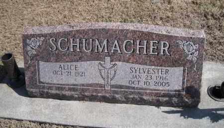 SCHUMACHER, ALICE - Platte County, Nebraska | ALICE SCHUMACHER - Nebraska Gravestone Photos