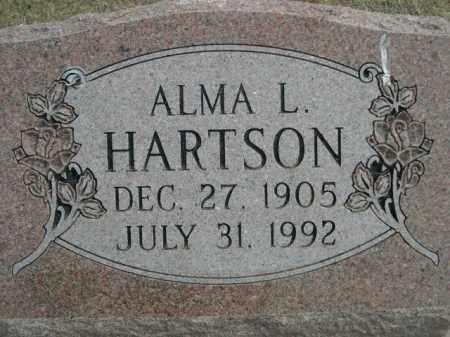 HARTSON, ALMA L. - Polk County, Nebraska | ALMA L. HARTSON - Nebraska Gravestone Photos