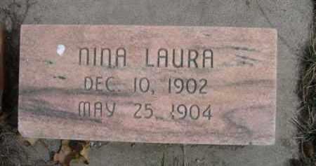 UNKNOWN, NINA LAURA - Polk County, Nebraska | NINA LAURA UNKNOWN - Nebraska Gravestone Photos