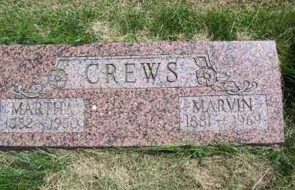 CREWS, MARTHA - Richardson County, Nebraska | MARTHA CREWS - Nebraska Gravestone Photos