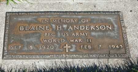 ANDERSON, BLAINE H. - Rock County, Nebraska   BLAINE H. ANDERSON - Nebraska Gravestone Photos
