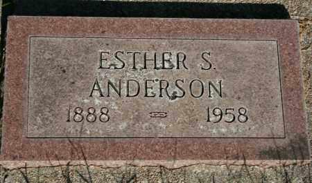 ANDERSON, ESTHER S. - Rock County, Nebraska | ESTHER S. ANDERSON - Nebraska Gravestone Photos