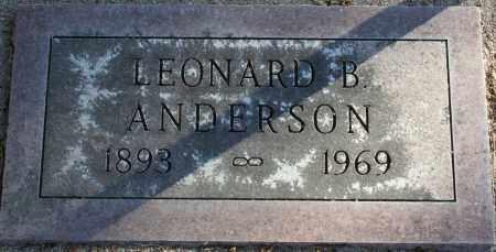 ANDERSON, LEONARD - Rock County, Nebraska | LEONARD ANDERSON - Nebraska Gravestone Photos