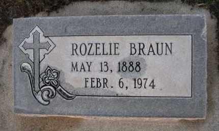 BRAUN, ROZELIE - Rock County, Nebraska | ROZELIE BRAUN - Nebraska Gravestone Photos