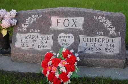 SNIDER FOX, L. MARJORIE - Rock County, Nebraska | L. MARJORIE SNIDER FOX - Nebraska Gravestone Photos