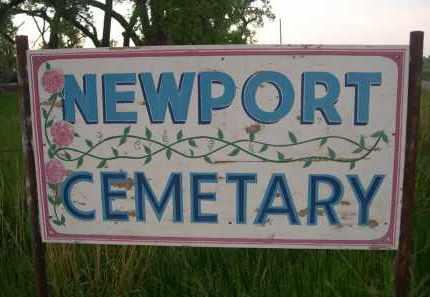 *NEWPORT CEMETERY, SIGN FOR - Rock County, Nebraska | SIGN FOR *NEWPORT CEMETERY - Nebraska Gravestone Photos