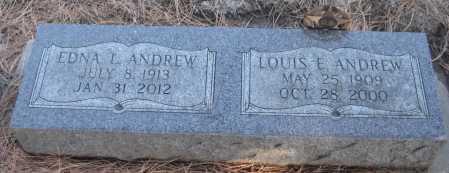ANDREW, LOUIS E. - Saline County, Nebraska | LOUIS E. ANDREW - Nebraska Gravestone Photos
