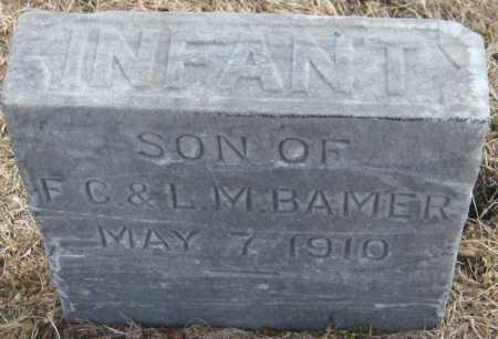 BAMER, INFANT SON - Saline County, Nebraska | INFANT SON BAMER - Nebraska Gravestone Photos
