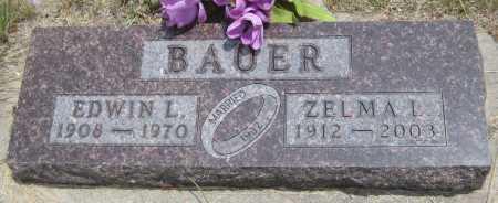 BAUER, EDWIN L. - Saline County, Nebraska   EDWIN L. BAUER - Nebraska Gravestone Photos