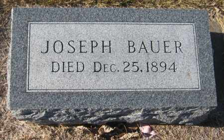 BAUER, JOSEPH - Saline County, Nebraska | JOSEPH BAUER - Nebraska Gravestone Photos