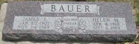 BAUER, JAMES F. - Saline County, Nebraska | JAMES F. BAUER - Nebraska Gravestone Photos