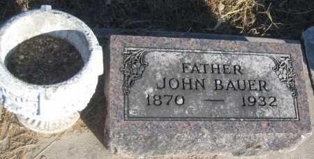 BAUER, JOHN - Saline County, Nebraska | JOHN BAUER - Nebraska Gravestone Photos