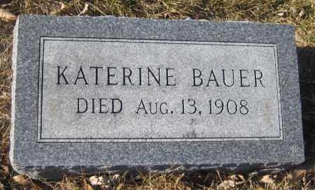 BAUER, KATERINE - Saline County, Nebraska | KATERINE BAUER - Nebraska Gravestone Photos