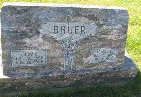 BAUER, MARY B. - Saline County, Nebraska | MARY B. BAUER - Nebraska Gravestone Photos