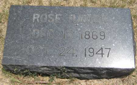 BAUER, ROSE - Saline County, Nebraska   ROSE BAUER - Nebraska Gravestone Photos