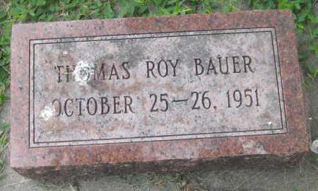 BAUER, THOMAS ROY - Saline County, Nebraska | THOMAS ROY BAUER - Nebraska Gravestone Photos