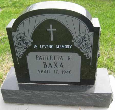 BAXA, PAULETTA K. - Saline County, Nebraska | PAULETTA K. BAXA - Nebraska Gravestone Photos