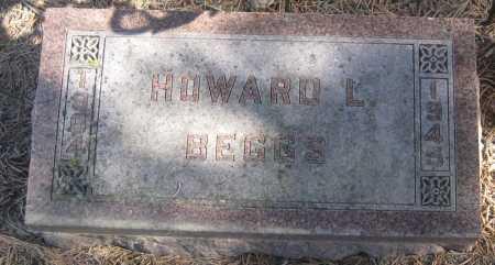 BEGGS, HOWARD L. - Saline County, Nebraska | HOWARD L. BEGGS - Nebraska Gravestone Photos