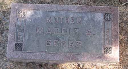 BEGGS, MAGGIE A. - Saline County, Nebraska | MAGGIE A. BEGGS - Nebraska Gravestone Photos