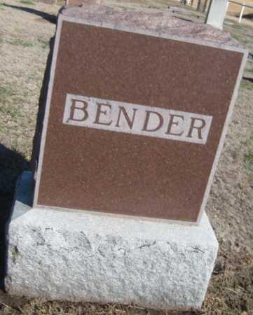 BENDER, FAMILY MONUMENT - Saline County, Nebraska | FAMILY MONUMENT BENDER - Nebraska Gravestone Photos