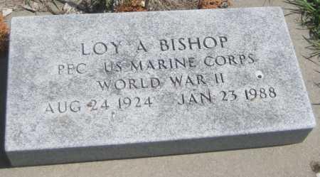 BISHOP, LOY A. - Saline County, Nebraska   LOY A. BISHOP - Nebraska Gravestone Photos