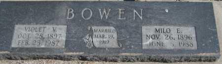 SNODGRASS BOWEN, VIOLET VIVIAN - Saline County, Nebraska   VIOLET VIVIAN SNODGRASS BOWEN - Nebraska Gravestone Photos