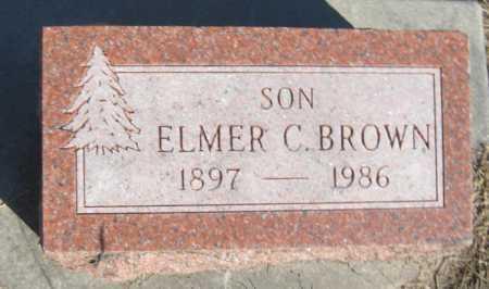 BROWN, ELMER C. - Saline County, Nebraska   ELMER C. BROWN - Nebraska Gravestone Photos