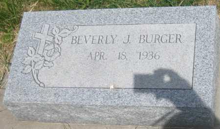 BURGER, BEVERLY J. - Saline County, Nebraska | BEVERLY J. BURGER - Nebraska Gravestone Photos