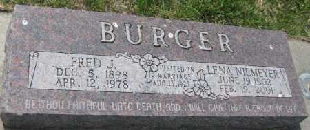 BURGER, FRED J. - Saline County, Nebraska | FRED J. BURGER - Nebraska Gravestone Photos