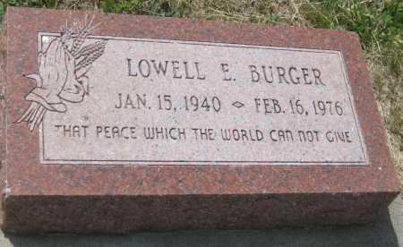 BURGER, LOWELL E. - Saline County, Nebraska | LOWELL E. BURGER - Nebraska Gravestone Photos