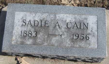 CAIN, SADIE A. - Saline County, Nebraska | SADIE A. CAIN - Nebraska Gravestone Photos