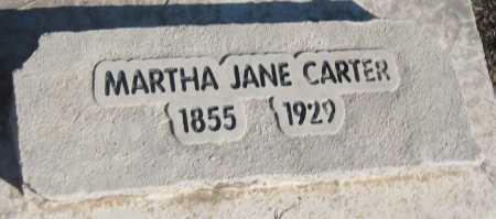 CARTER, MARTHA JANE - Saline County, Nebraska | MARTHA JANE CARTER - Nebraska Gravestone Photos