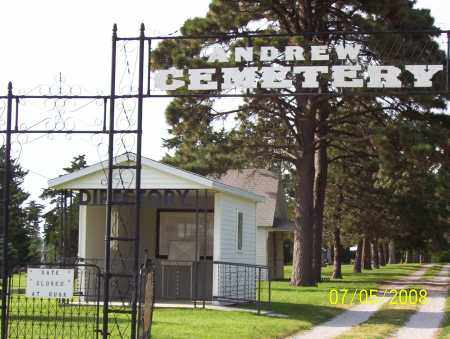 *ANDREW CEMETERY, ENTRANCE TO - Saline County, Nebraska   ENTRANCE TO *ANDREW CEMETERY - Nebraska Gravestone Photos