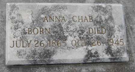 CHAB, ANNA - Saline County, Nebraska | ANNA CHAB - Nebraska Gravestone Photos