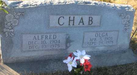 CHAB, OLGA - Saline County, Nebraska | OLGA CHAB - Nebraska Gravestone Photos