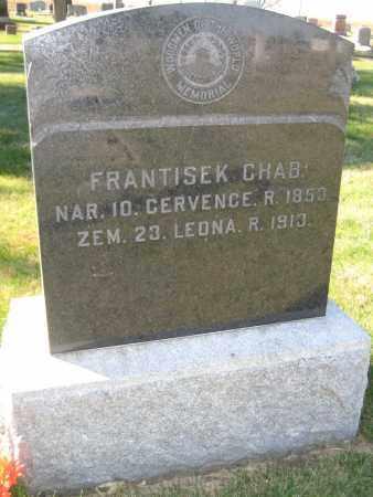 CHAB, FRANTISEK - Saline County, Nebraska | FRANTISEK CHAB - Nebraska Gravestone Photos