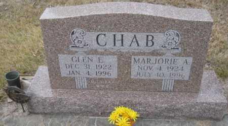 CHAB, GLEN E. - Saline County, Nebraska | GLEN E. CHAB - Nebraska Gravestone Photos