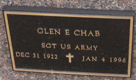CHAB, GLEN E. - Saline County, Nebraska | GLEN E. CHAB - Nebraska Gravestone Photos